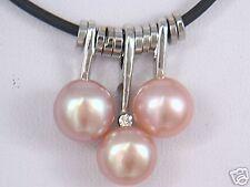 Mode,perle d'eau douce rose , pendentif , 43cm