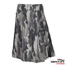 Utility Kilt Camouflage Army Grey Highland Sports Kilt