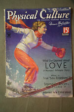 vtg old PHYSICAL CULTURE Magazine fitness exercise body building fashion 1935 fe