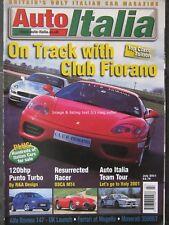 Auto Italia July 2001 Maserati 3500GT Alfa 147 Punto Turbo OSCA MT4 Bravo Marea
