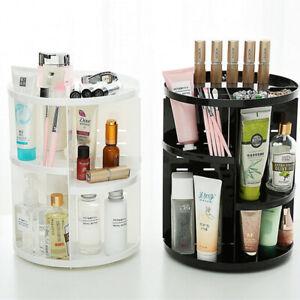 Dressing Table Rotating Makeup Organiser Adjustable Cosmetics Case Storage Shelf