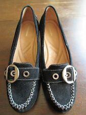 10M Naturalizer suede wedge - Tempero Buckle Wedge Shoe  Black