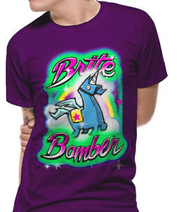 Official Fortnite Brite Bomber T Shirt Game Youths / Boys / Girls  XL New