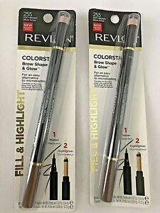 REVLON Colorstay Brow Shape & Glow 255 Soft Brown LOT OF TWO NEW