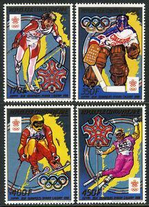 Central Afrique 899-902, Mi 1343-1346, MNH Olympiques Calgary. Ski, Hockey, 1988