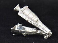 NASA Apollo Space Capsule OPENS Astronauts Inside Sterling Silver Charm 925 VTG