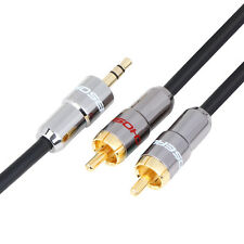 Choseal Audio Cable Stereo 3.5mm to 2 RCA - for PC TV CD MP3 iPOD Audio Player