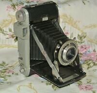Vintage 1948-51 Kodak Tourist Folding Camera WORKS  f4.5 105mm