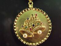 1940's Gorgeous Vintage 14k Yellow Gold Jewelry 3-D Bell Charm Pendant Jewelry