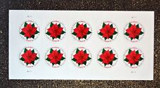 2018USA #5311 Global Forever Rate - Poinsettia - Sheet 10 Mint postage sase