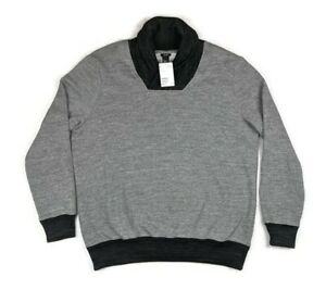 H&M Pullover Cowl Neck Long Sleeve Gray Cotton Knit Sweater Men's Size Large NWT