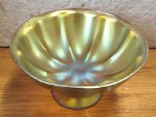"Stunning WMF German ""MYRA "" GOLD IRIDESCENT low footed bowl"