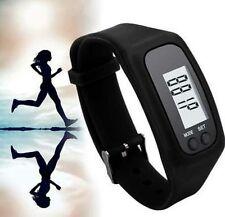 Nero Orologio da polso LCD pedometro bracciale sport Passo Calorie Contatore Da Passeggio