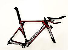 STRADALLI GRAY CARBON FIBER TRIATHLON TIME TRIAL BIKE BICYCLE FRAME TT 56 LARGE