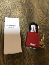 Abus 7440 Safety Lockout Tagout Padlock Red New