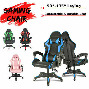 Gaming Chair Racing Ergonomic Recliner Office Computer Desk Seat Swivel Chair