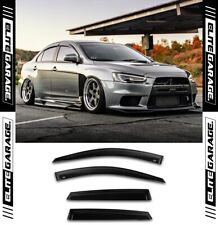 Mitsubishi Lancer CJ Ralliart Evo X - Side Window Visors Weathershields 07-17
