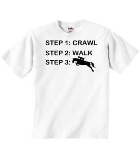 Crawl Walk Ride and Run T-shirt Tees Funny Printed Boys Girls