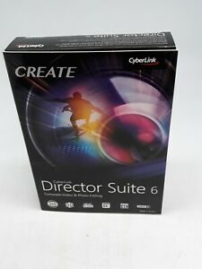 Create Cyberlink Director Suite 6 NEW Sealed Video Photo Editing Software - DIS