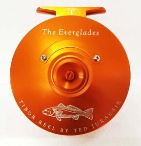 TIBOR EVERGLADES REDFISH ENGRAVED SUNSET ORANGE #7/8/9 FLY REEL - FREE US SHIP