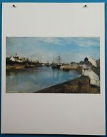 """Berthe Morisot """"The Harbor at Lorient"""" Lithograph French Imperessionist"""