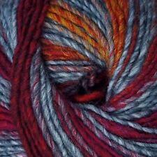"""Adriafil Zebrino """"Multi Red Fancy 068"""" Worsted Aran Yarn 50g Knitting Wool"""