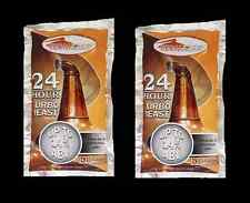 2 PACKS FERMFAST 24 HOUR SUPER TURBO YEAST 14% ALCOHOL FASTVODKA WHISKEY STILL