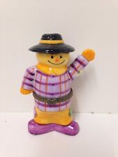 Porcelain Scarecrow Trinket Box