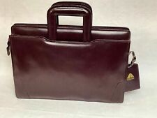 Vintage Avenues In Leather Maroon Multi Compartment Brief Case Pop Up Handles