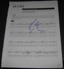 LARS ULRICH METALLICA DRUMMER LEGEND SIGNED 9X12 MUSIC LYRIC SHEET FADE TO BLACK