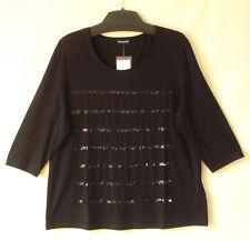 Samoon Shirt by Gerry Weber 3/4Arm mit Pailletten Jersey schwarz Damen Gr.46