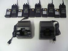 FIVE Ericsson LPE-200 KRD 103 103/A203 R2A Two Way Radios w 2 Bases & Cords g262