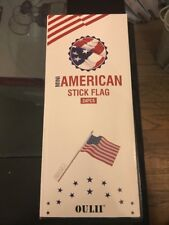 """American Flags Hand Held 24 Pack 4"""" x 6"""" Mini Us Flags Stick Great-looking New"""