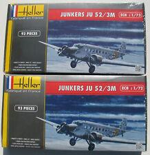 2x Heller 80380 - JUNKERS JU-52 / 3M - 1:72 - Flugzeug Modellbausatz Model Kit