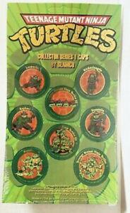 Brand New! Sealed! Teenage Mutant Ninja Turtles Pogs, 1993 full sheet of 8