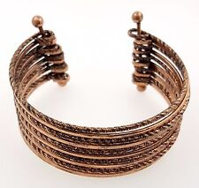 Rose Gold Colored Bracelet with Horizontal Lines by Chuns, Sz. 6.25inches
