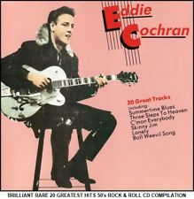 Eddie Cochran - Very Best 20 Greatest Hits Collection - RARE 50's Rock & Roll CD