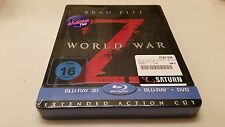 World War Z 3D Embossed STEELBOOK Saturn Exclusive (Bluray Germany) All Stickers