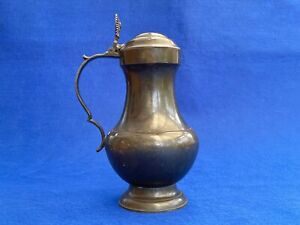 A Superb 18th Century Pewter Flagon - Rose Touchmarks -