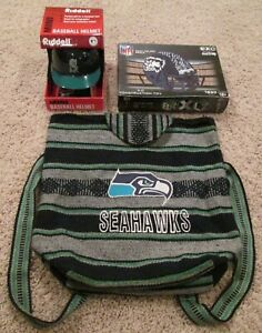 SEATTLE SEAHAWKS and MARINERS Mini Helmet Backpack and 3D Construction Puzzle
