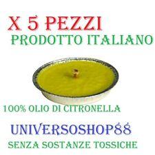 CANDELA CITRONELLA ANTIZANZARE ANTIVENTO PRODOTTO ITALIANO NO TOSSICA D 11 CM