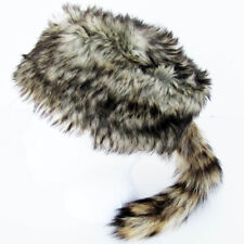 2a5b1b3d5bb Daniel Boone Davey Crockett RACCOON TAIL HAT racoon mountain man coon skin  cap