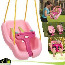 Little Tikes Infant Toddler Baby Girl 2-in-1 Secure Swing T-bar & Straps Hold