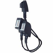 UNIVERSAL Y Kabel Adapter Splitter Verteiler TAEF N Stecker 2x TAE-F + N Buchse