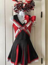 Spirit Halloween Red Black Cheerleading Cheer Dress Costume Junior/Adult Size XS