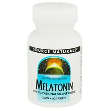 Source Naturals Melatonin 3 mg, 60 Tablets