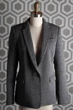 NWT Theory Dancey Tweed Blazer 10 Black White $425