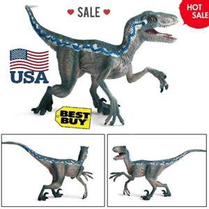 Jurassic Blue Raptor Dinosaur Velociraptor Toy Educational Model Birthday Gifts