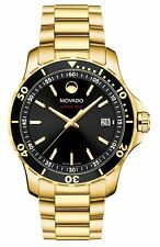 Movado 2600145 Black Dial Gold-tone Series 800 Watch Swiss Quartz Men's 40mm