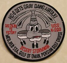 Helicopter Combat Support Sq HC-6 DET-5 Desert Storm Gray Dawg Navy Patch